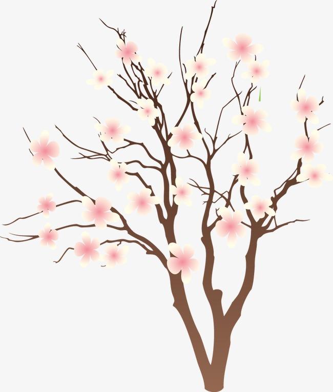650x765 Cartoon Painted Peach Branches, Cartoon, Hand Painted, Peach