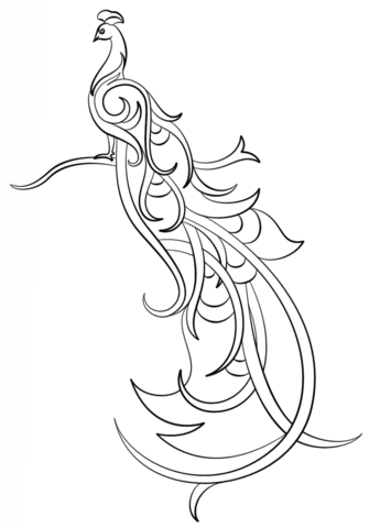 335x480 Abstract Peacock Coloring Page Free Printable Coloring Pages