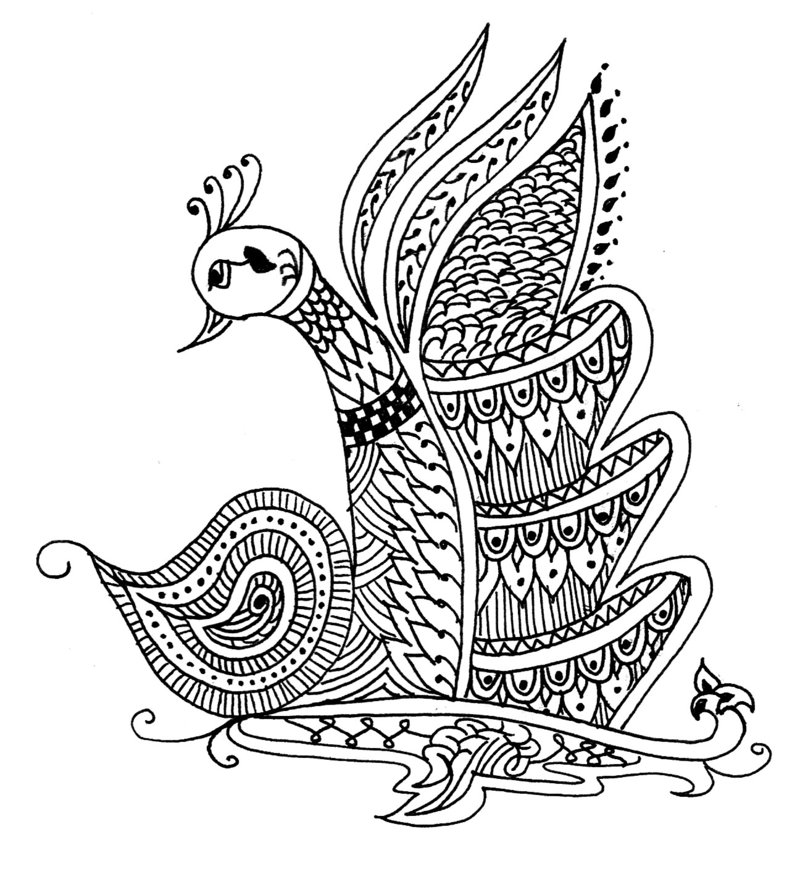 800x869 Henna Designs Drawings Peacock
