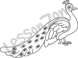 323x243 Marvellous Design Peacock Outline Clipart 47 Drawing Images