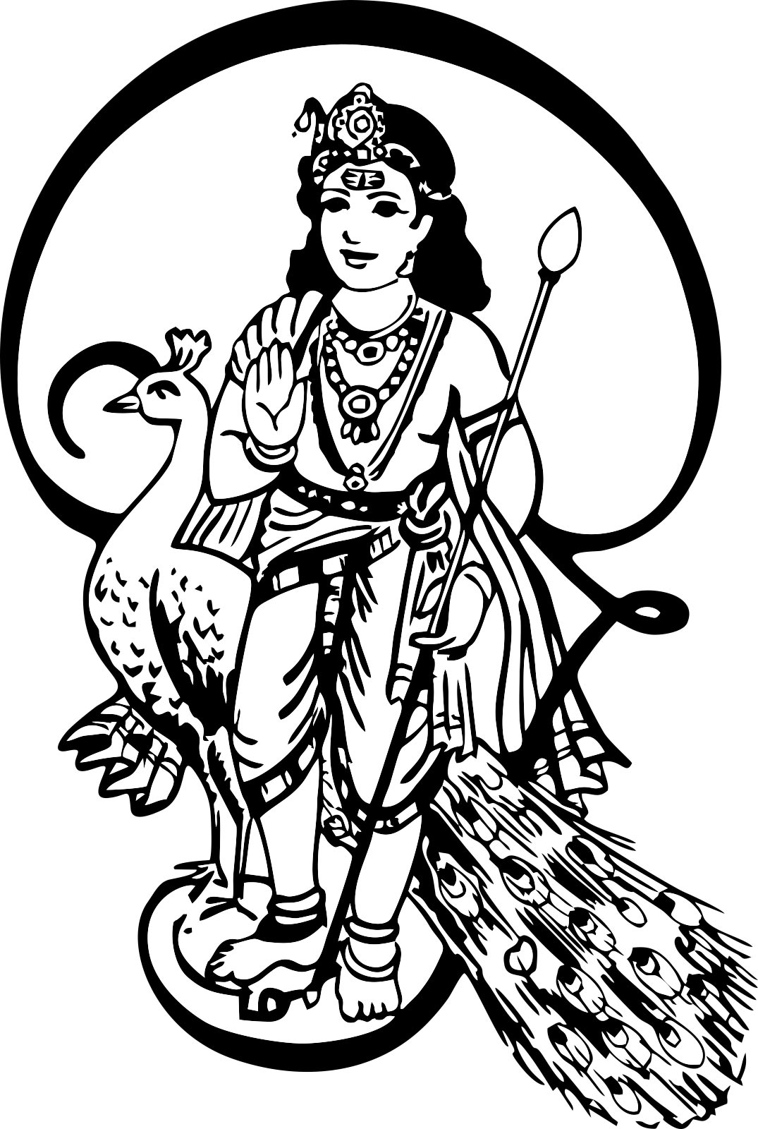 1075x1600 15 Lord Murugan Pictures Black White Selection Black And White