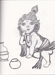 222x300 Krishna Peacock Drawings Fine Art America