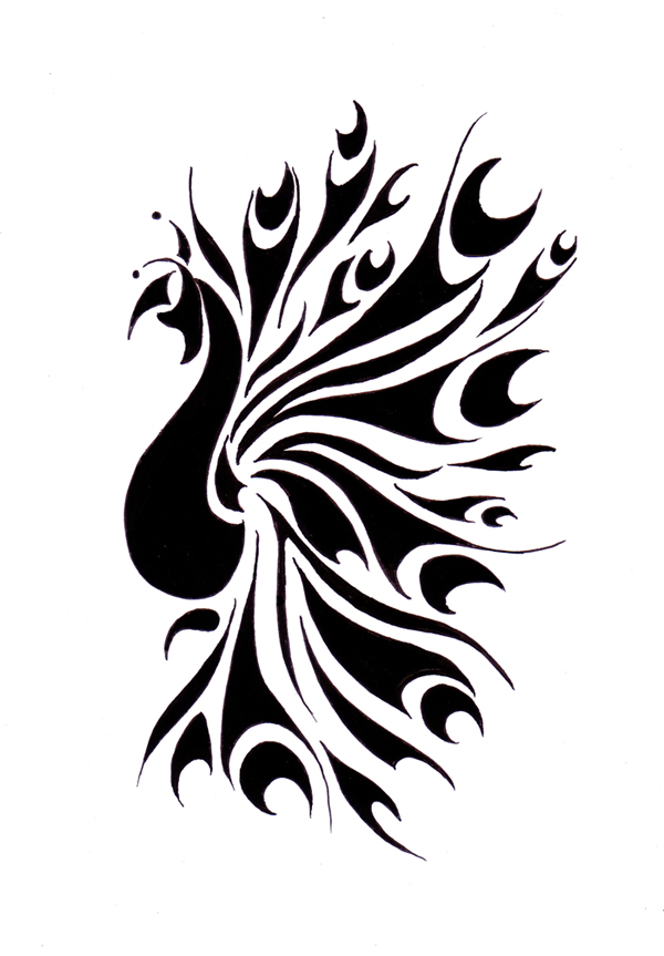 600x863 Peacock Tattoo By Reddishy