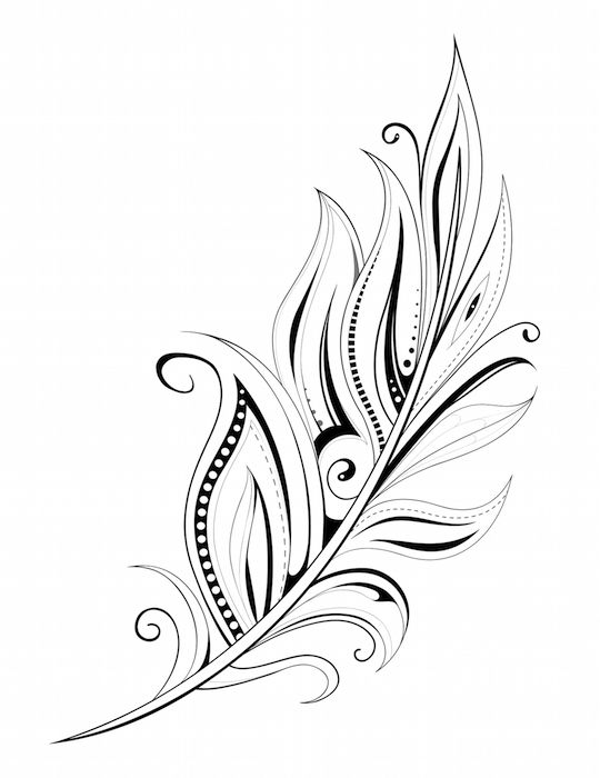 540x700 Beautiful Feather Tattoos With Meanings