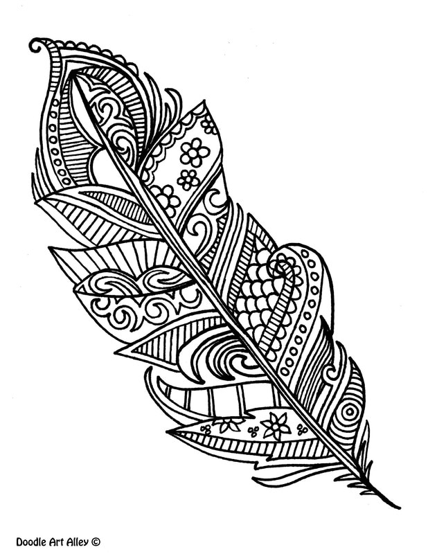 618x800 Many Feather Coloring Sheet Feather Cut Out