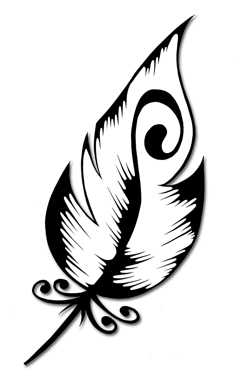 802x1257 Simple Drawing Of A Feather Peacock Feather Outline