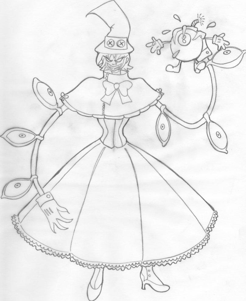 808x989 Peacock, Skullgirls, Clean Sketch By Demon Of God Mio