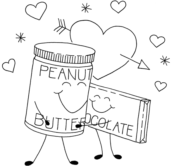 595x570 Peanut Butter And Chocolate Coloring Pages Chocolate
