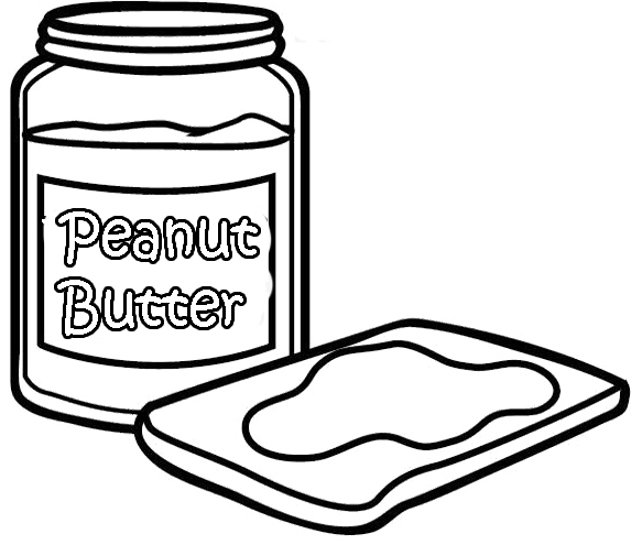573x495 Peanut Butter Coloring Book Plage Coloring Page