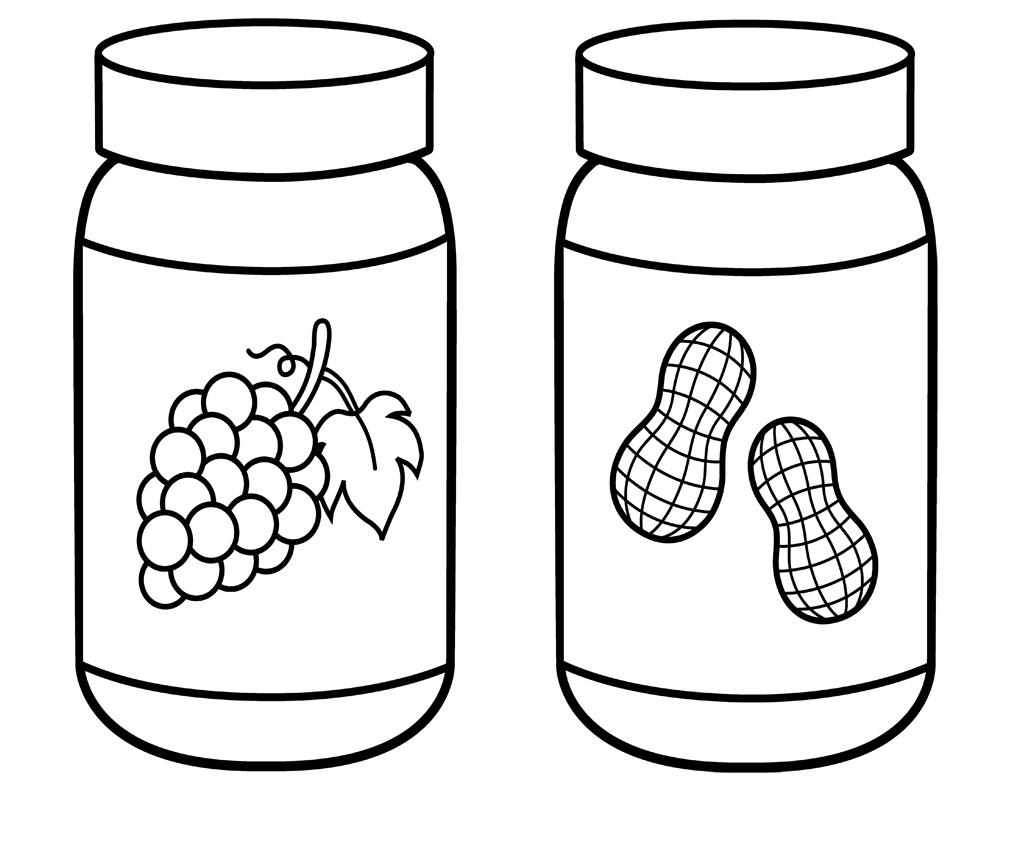 1013x843 Peanut Butter Jar Coloring Page Educational Peanut