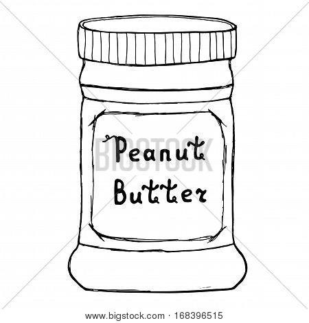 450x470 Peanut Butter Jar. Sketch Vector Amp Photo Bigstock