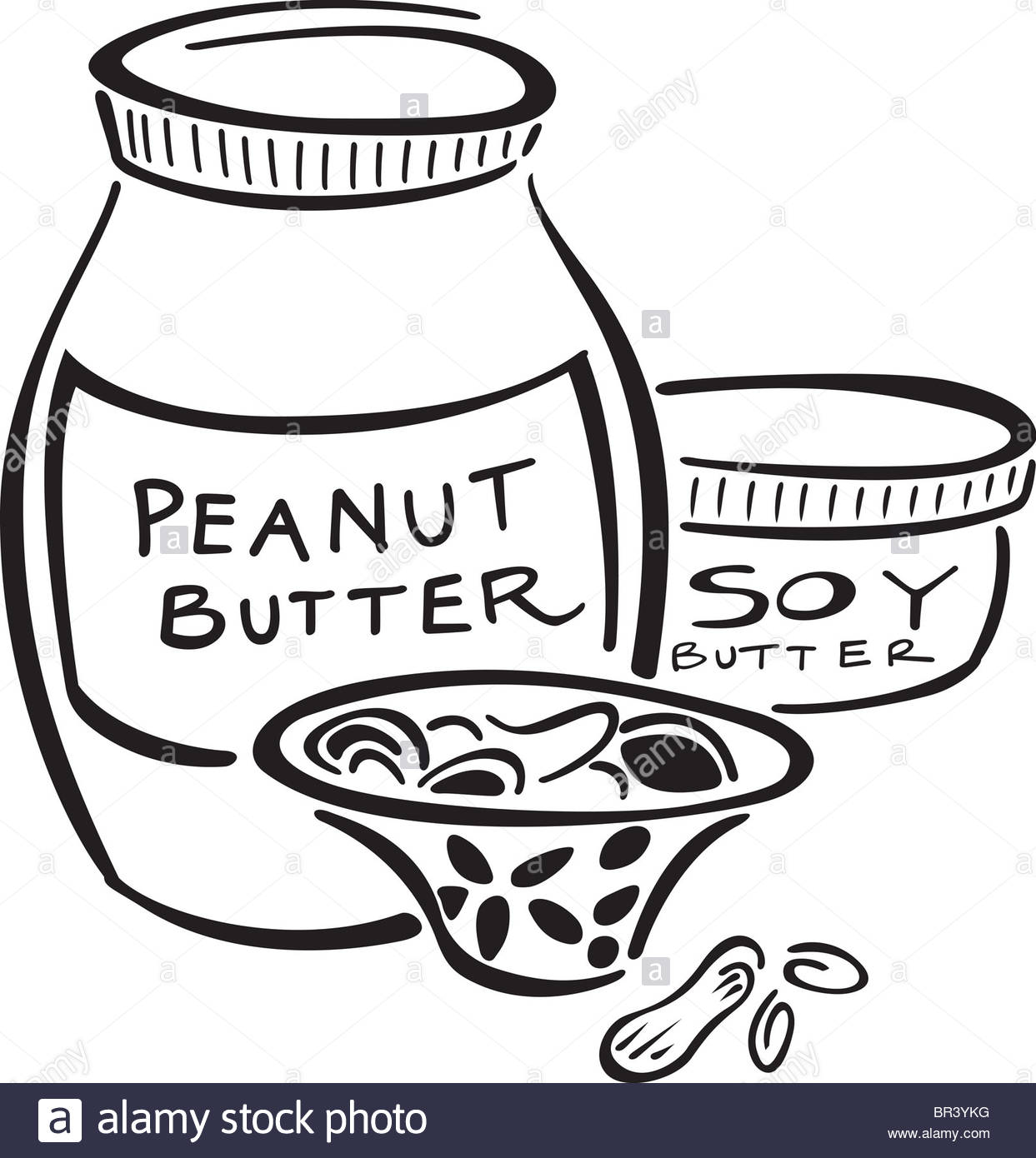 1243x1390 Peanut Butter,soy Butter And A Bowl Of Nuts Stock Photo, Royalty