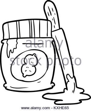 300x367 Cartoon Jar Of Peanut Butter Stock Vector Art Amp Illustration