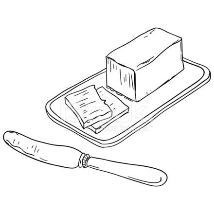 440x440 Butter Sketch Illustration Stock Vector