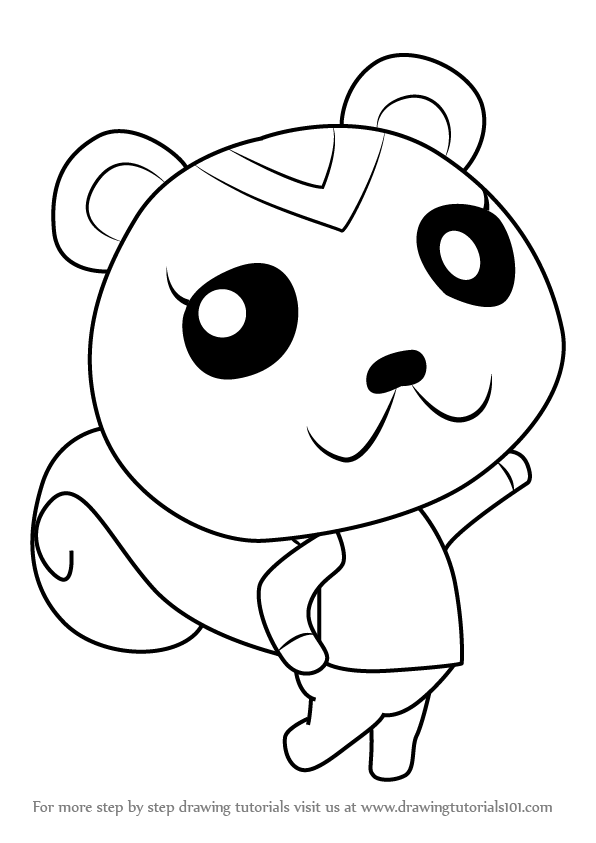 596x843 Learn How To Draw Peanut From Animal Crossing (Animal Crossing