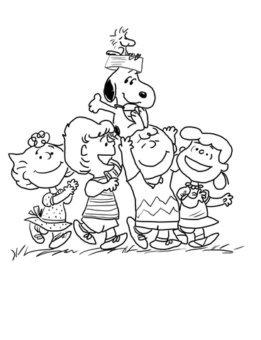 368x480 Peanuts Gang Coloring Page Free Printable Coloring Pages