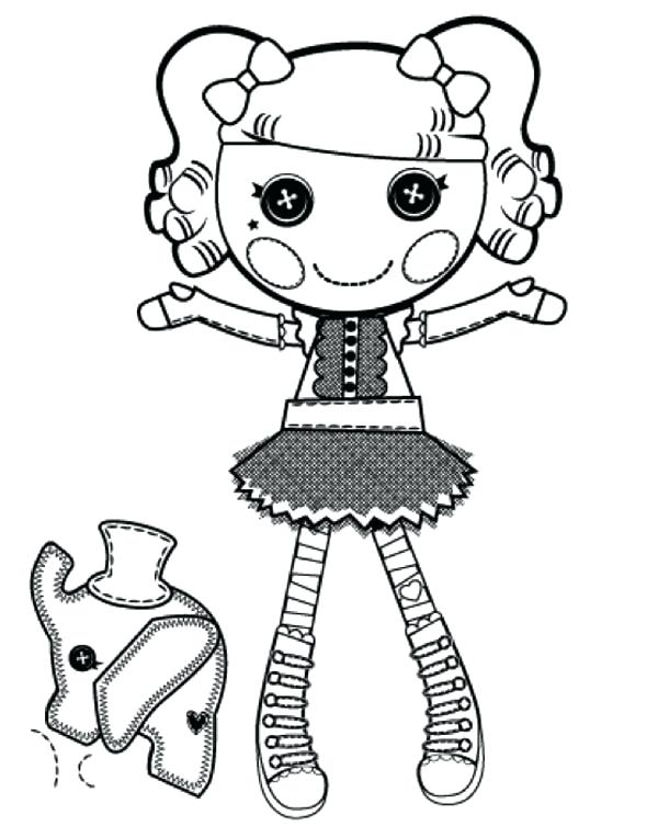 600x753 Coloring Pages Lalaloopsy Peanut Big Top From Coloring Page
