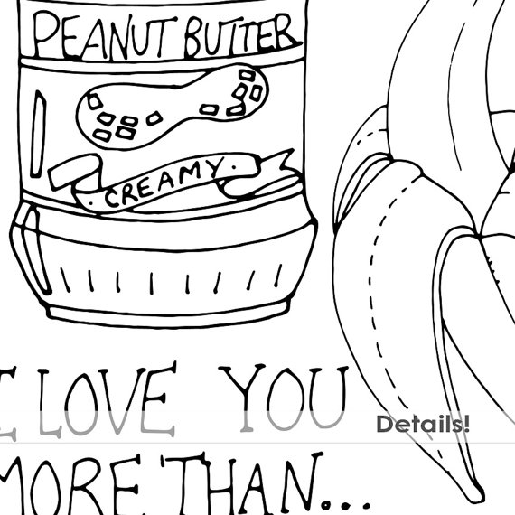 570x570 Peanut Butter Amp Jelly Digital Stamps Whimsical Doodle