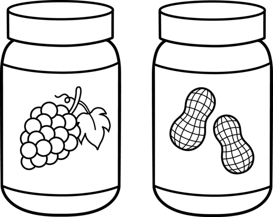 550x436 Peanut Butter And Jelly Line Art