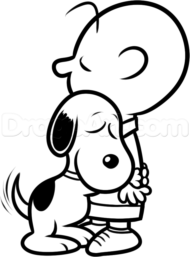 665x898 How To Draw Charlie Brown And Snoopy Step 8 Svg Files