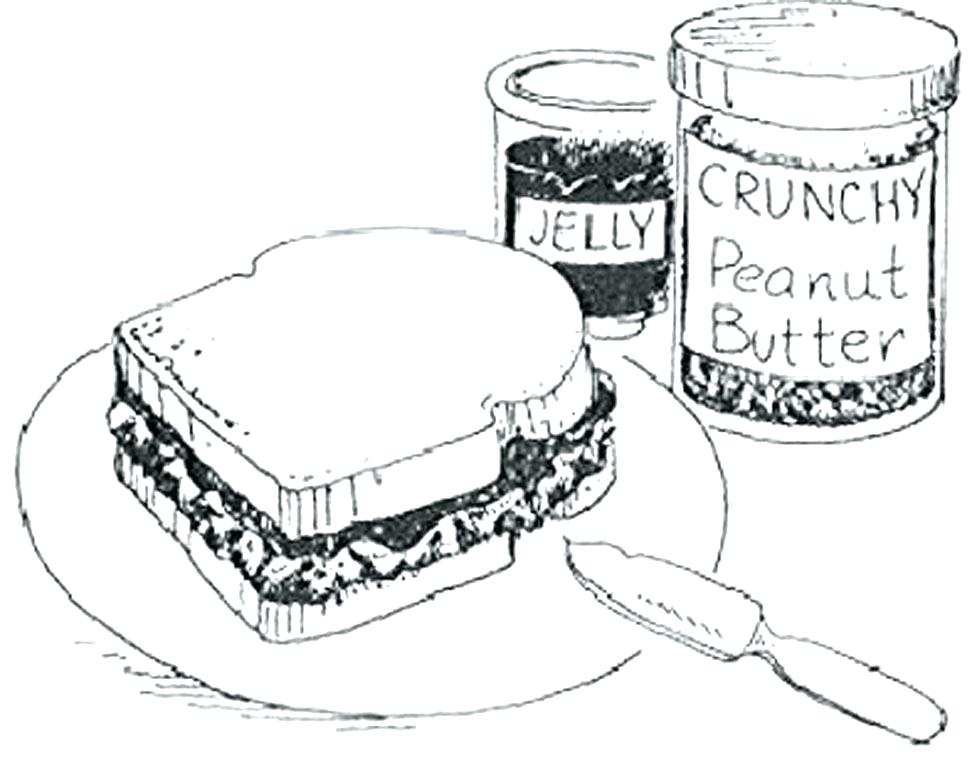 977x780 Peanut Coloring Page Peanut Butter On Bread Coloring Page Free