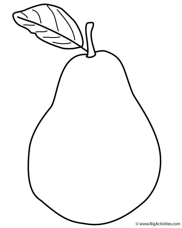 Pear Drawing at GetDrawings.com | Free for personal use ...