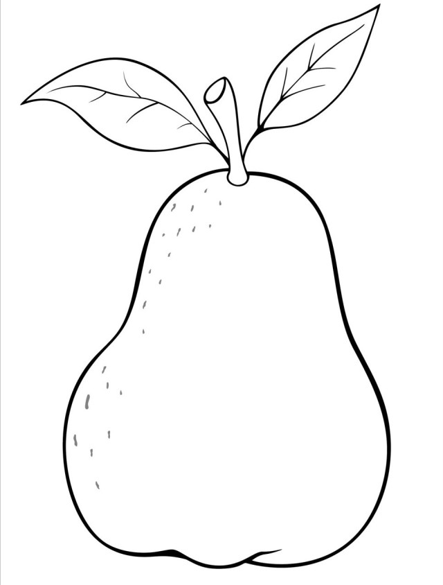 640x844 Awesome Pear Coloring Page 65 For Your Coloring Pages Online