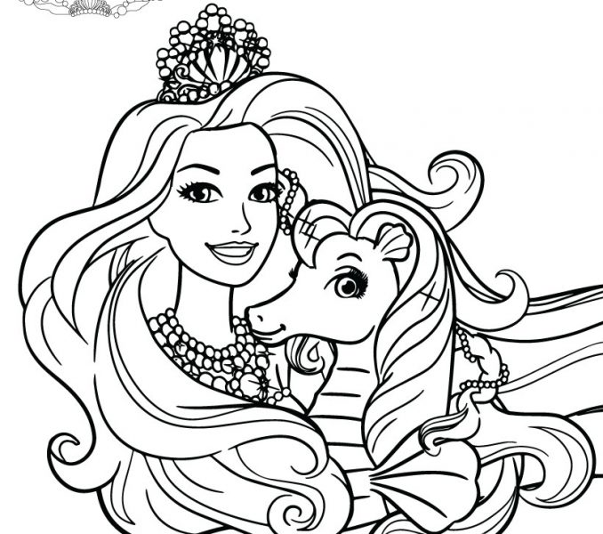 678x600 Barbie The Pearl Princess Coloring Pages Kids Coloring