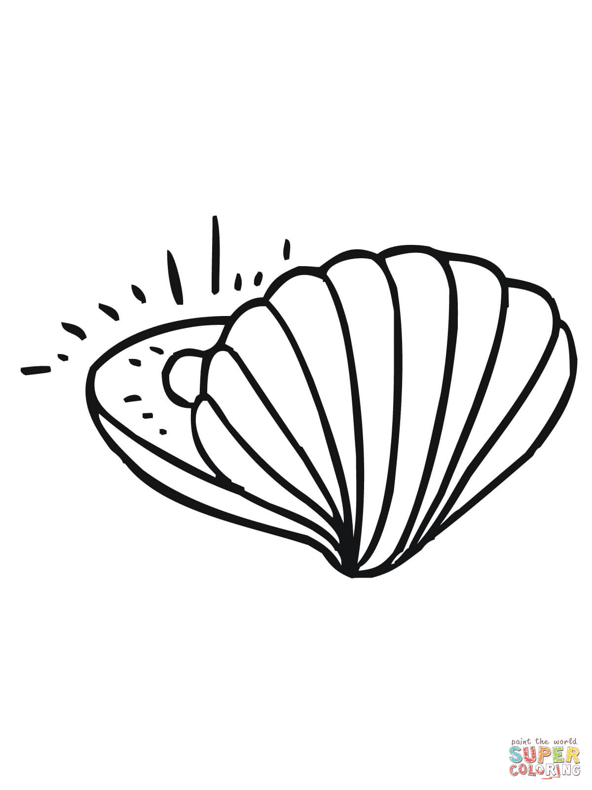 1200x1600 Clam With Pearl Coloring Page Free Printable Coloring Pages