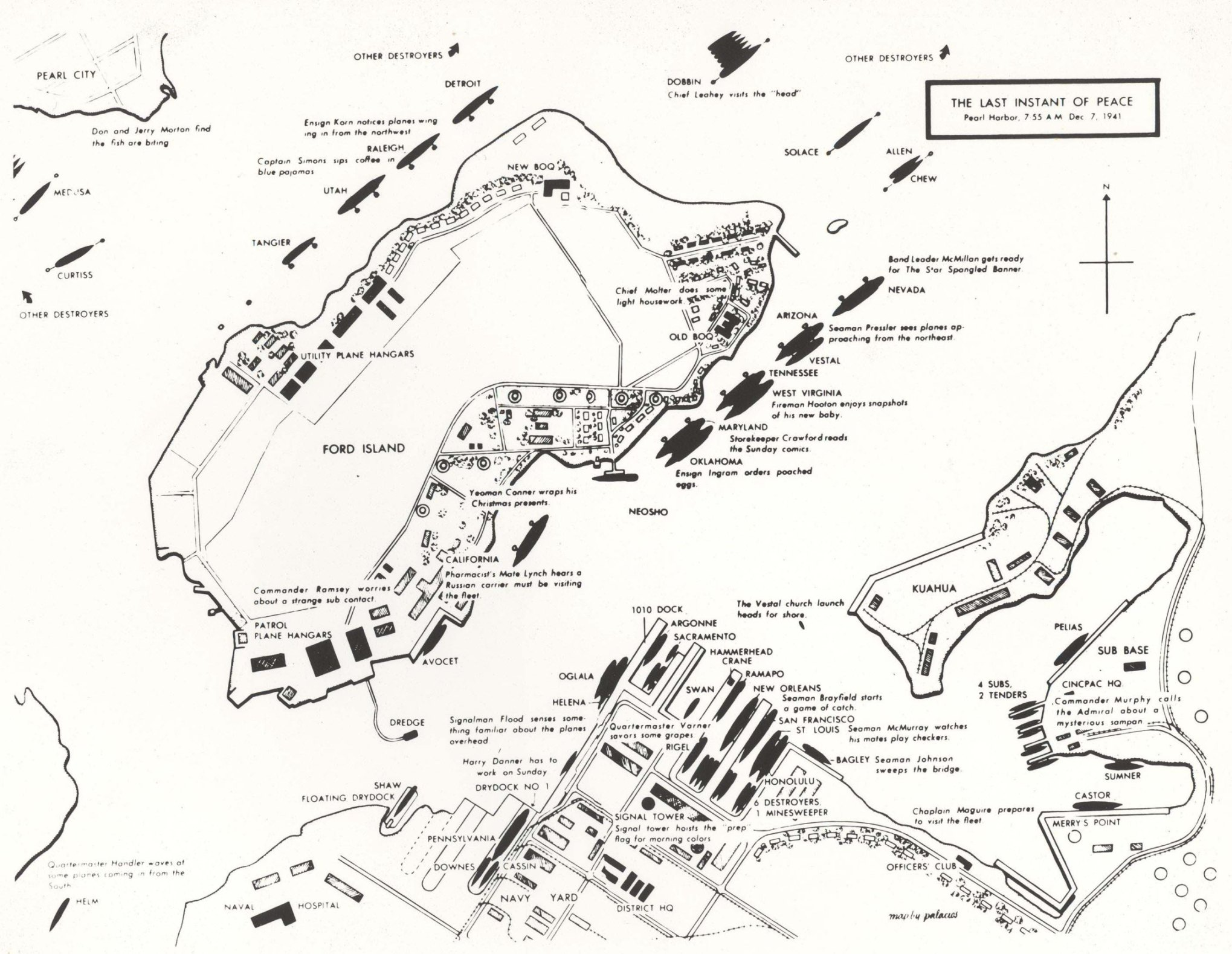 Pearl Harbour Map on