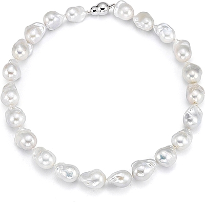 400x394 Fresh Water Baroque Pearl Necklace 325 00237