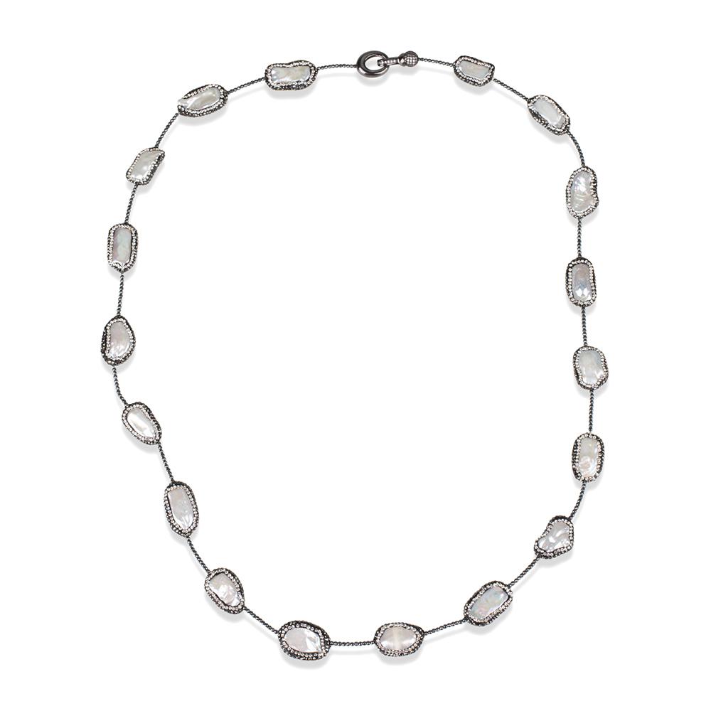 1000x1000 Kelvin Gems Multiway Oblong Baroque Pearl Necklace