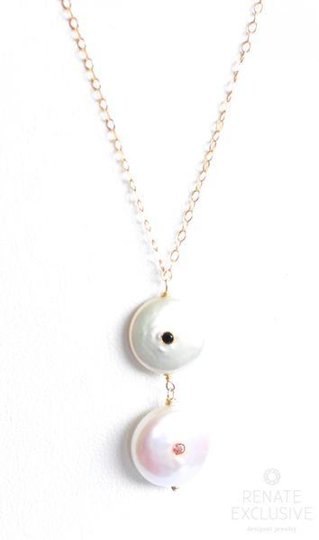 354x599 Unique White Coin Pearl Necklace Time Renate Exclusive