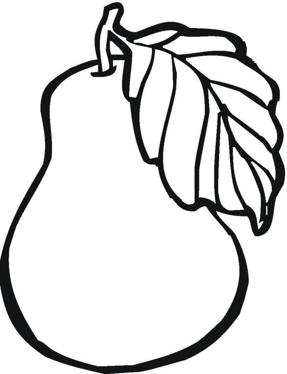584x760 Fruit Pear Coloring Page Quiltables Pear, Sunday