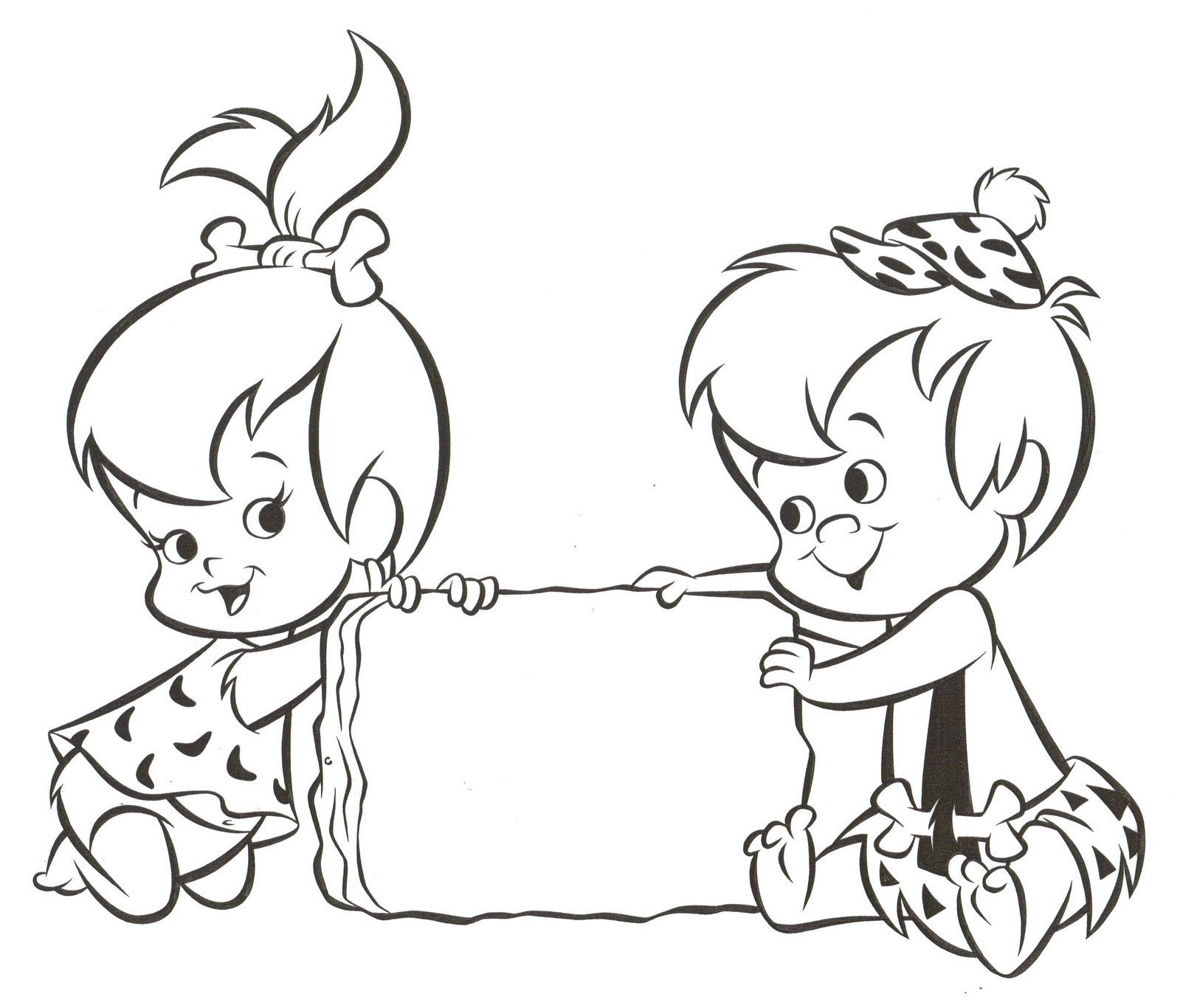 1599x1366 Pebbles And Bam Bam Coloring Pages Bday Party