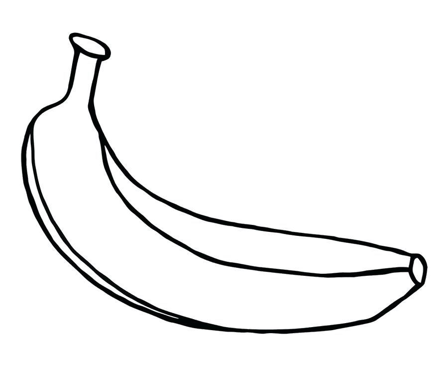 900x756 Banana Peel Coloring Page Fruits Pages For Kids Best
