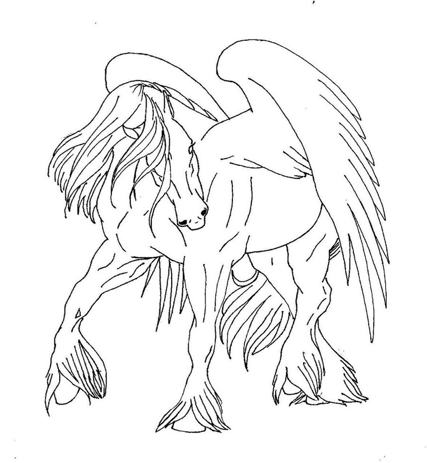 Pegasus Drawing at GetDrawings | Free download