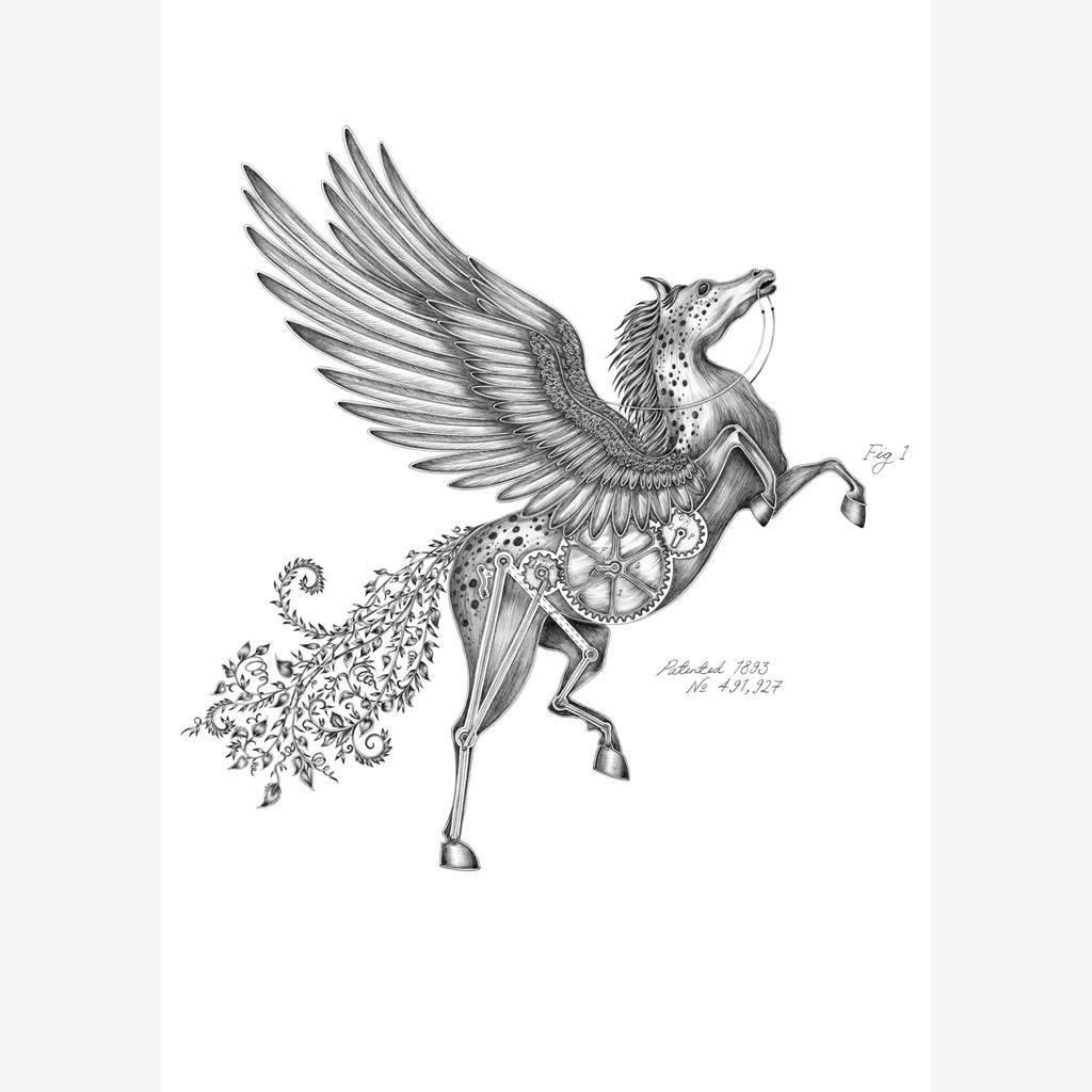 1024x1024 Pegasus Mini Print