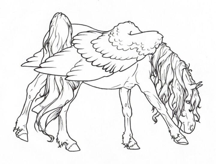 720x545 97 Best Pegasus To Color Images On Pegasus, Unicorns