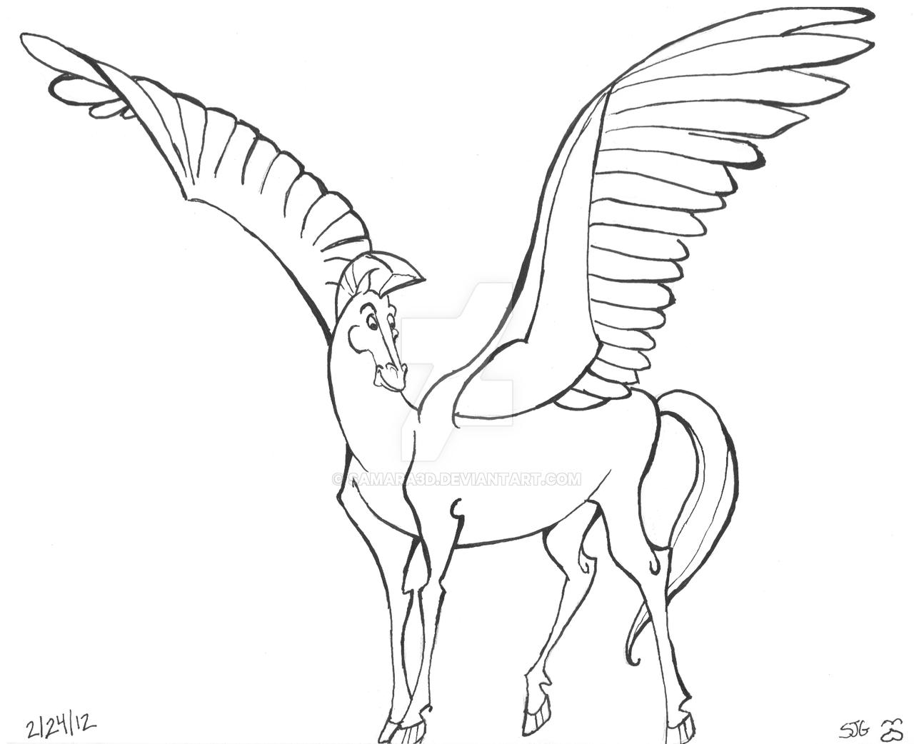 pegasus drawing at getdrawings  free download