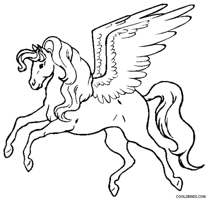 686x661 Printable Pegasus Coloring Pages For Kids Cool2bkids