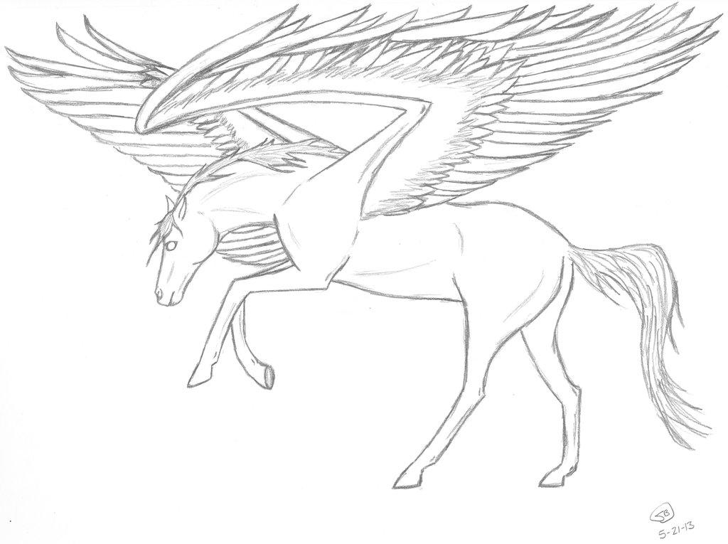 1024x765 Pegasus Sketch By Sushan89