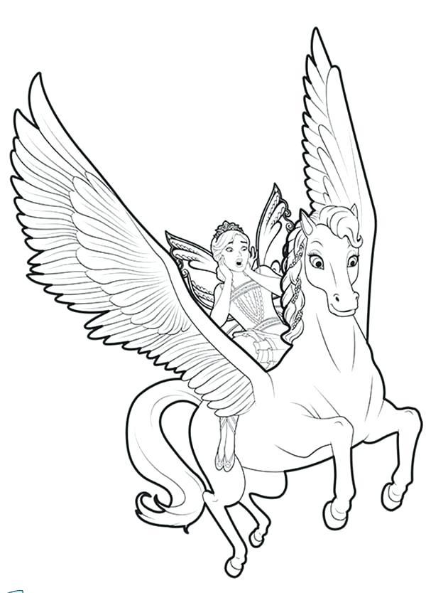 Pegasus Flying Drawing