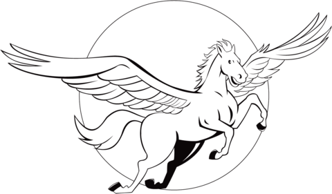 480x281 Flying Pegasus Coloring Page Free Printable Coloring Pages