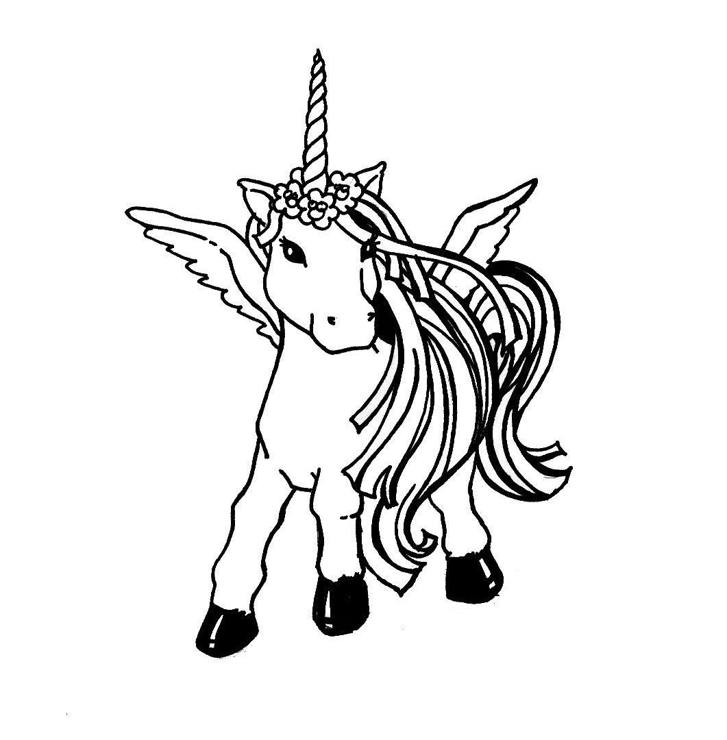 1061x1080 Great Pegasus Flying Horse Coloring Pages Free Printable Kids Book