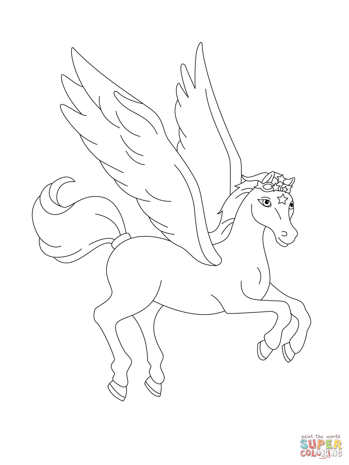 Pegasus Flying Drawing at GetDrawings.com | Free for personal use ...
