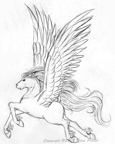 400x501 Pegasus Sketch By Flyingpony