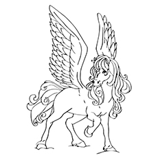 230x230 Top 10 Free Printable Pegasus Coloring Pages For Toddlers