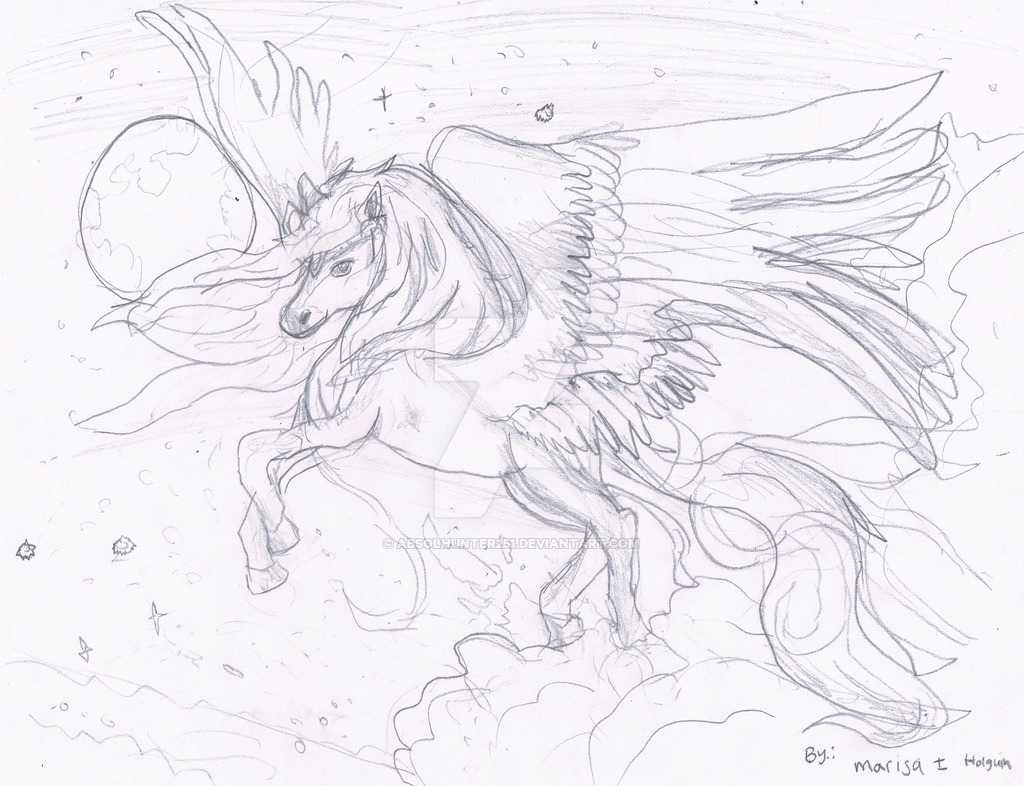 1024x786 Flying Through The Starry Night Pegasus By Absolhunter251