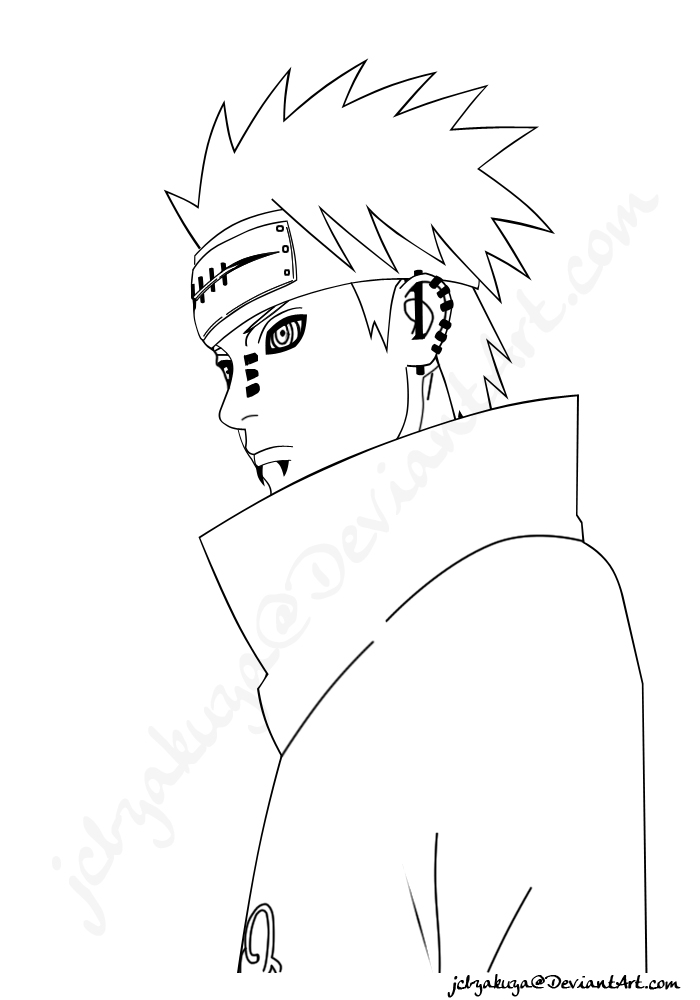700x1000 Pein Vector Line Art By Jcbyakuya